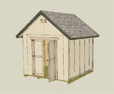 Backyard Storage Shed, 10x10 Gable Shed Plans