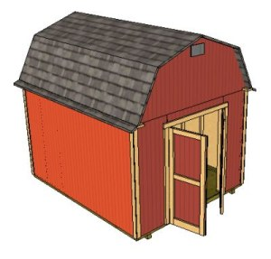 10x12 storage shed with gambrel roof
