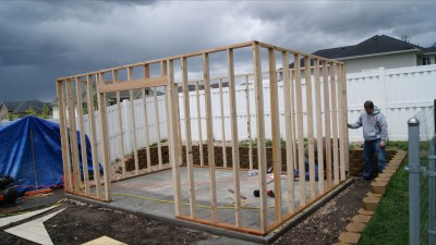 Build A Shed On Existing Concrete Slab
