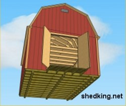 12x16 Gambrel Shed