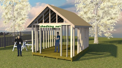 how to build a shed roof with a ridge board