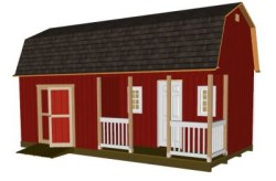 12x24 barn with front porch