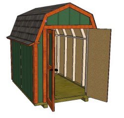 6x8 gambrel roof shed plans