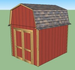 8x10 small barn building plans