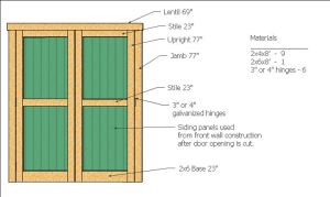 shed doorway structure the whole plans