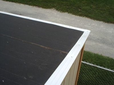 drip edge and felt paper for shed roof framing
