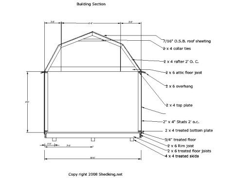 8 x 8 shed plans