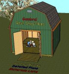 gambrel roof storage buildings