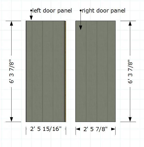 side panels for double shed doors