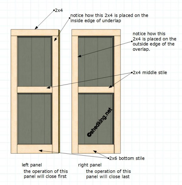 Storage shed plans 16x24 potting sheds for sale uk for Double door shed plans
