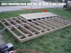 building a shed floor