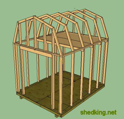 Rapo 8x8 gable storage shed plans for Free barn plans with loft
