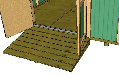 shed ramp on a gable shed