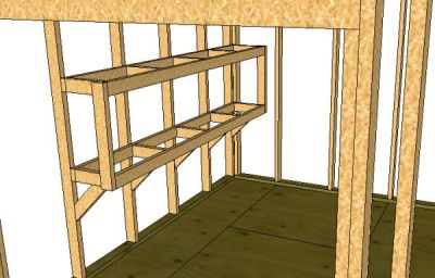 storage shed shelves
