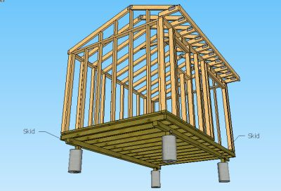 storage building plans on skids