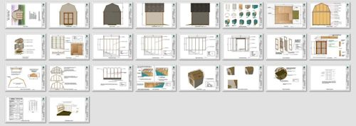 10x10 barn shed  blueprint pages