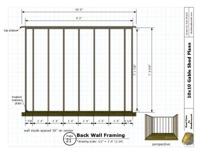 Garden Sheds 10 X 10 backyard storage shed, 10x10 gable shed plans