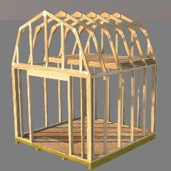 These 10x10 barn shed plans have detailed framing instructions.