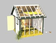 build a nice chicken coop with these shed plans