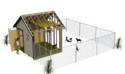 10x10 backyard storage shed as a dog house
