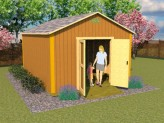 12x16 simple gable storage shed plans