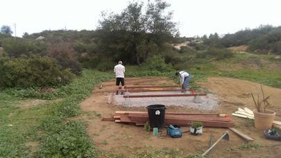 framing the floor for the 10x12 tiny house