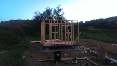 getting the 10x12 walls framed up