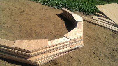 building the 10x12 trusses for the tiny house