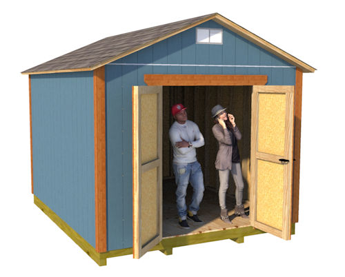 10x12 gable storage shed plans
