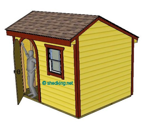 10x8 saltbox shed plans for Saltbox garden shed plans