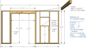 wall framing in my wood shed plans