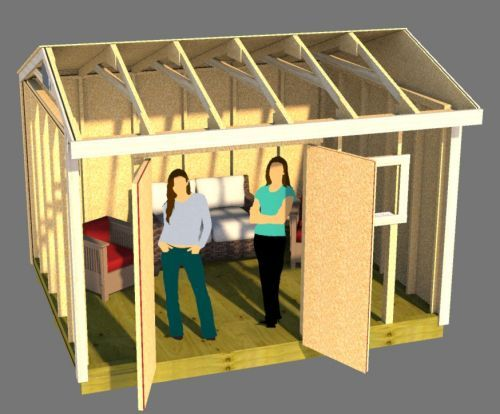 12x10 saltbox shed plans are great for building she sheds.