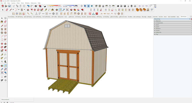 Sketchup file for my 12x12 barn shed plans