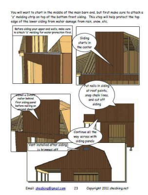 barn shed plans sample building guide page