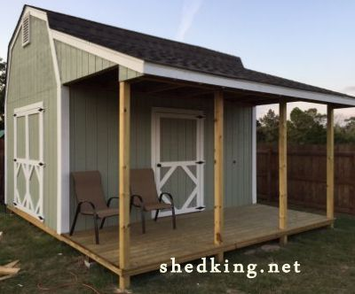 sheds with porches this one is a 12x16