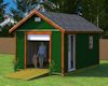 12x16 gable roof with roll up shed door shed plans