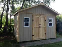 customer built 12x16 gable storage shed