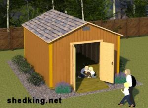 Simple gable style 12x16 shed plans.