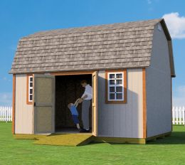 12x16 barn shed plans with doors on side wall