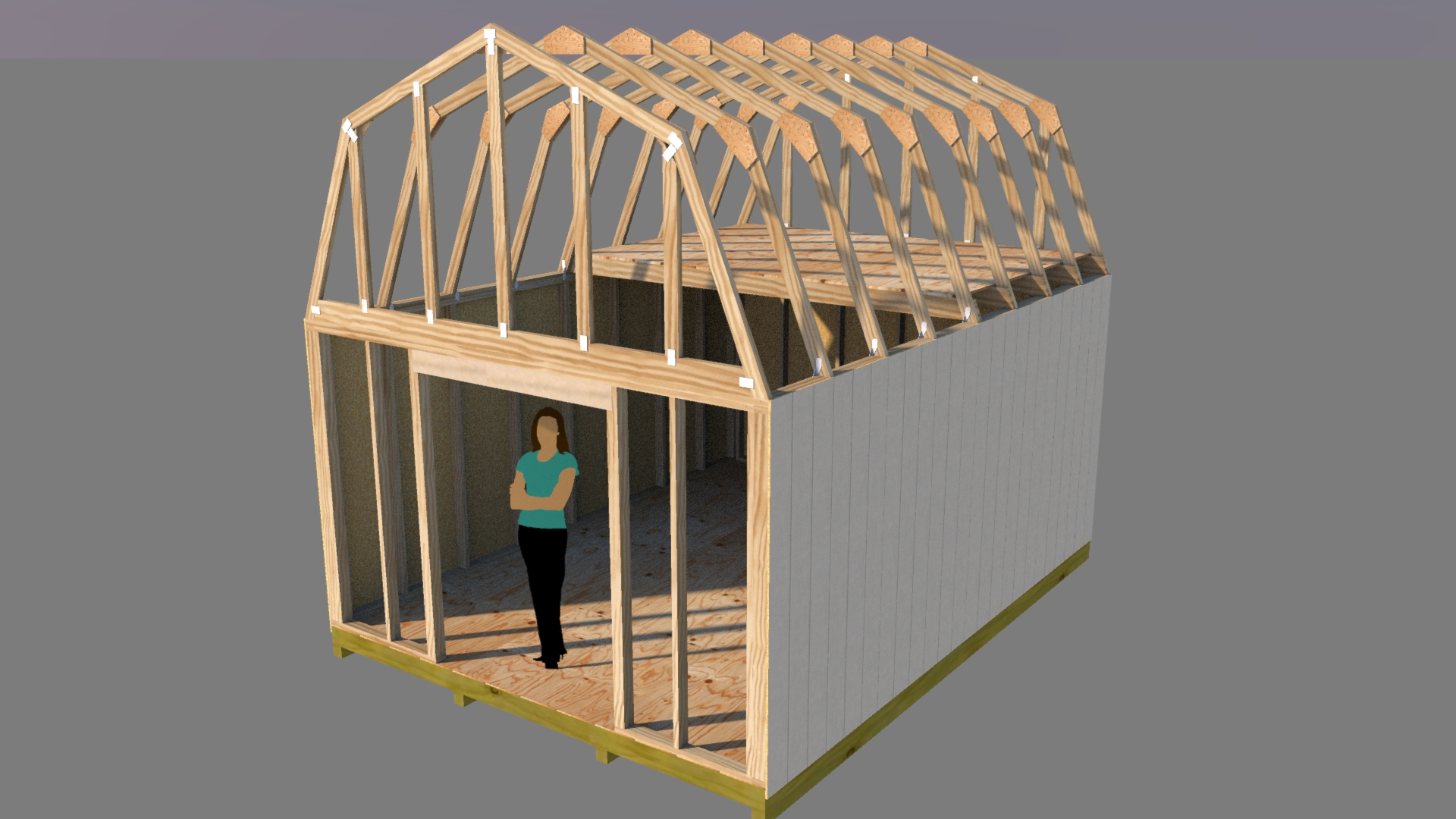 Shed plans easy for Prefab gambrel roof trusses