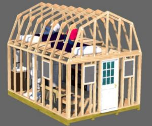 shed home 12x16 barn style shed plan