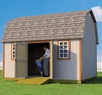 12x16 barn shed plans with doors on side