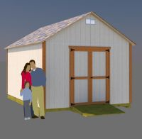 12x16 gable shed plans
