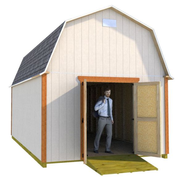 Easy To Use 12x20 Barn Shed Plans