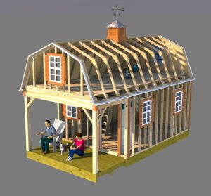 Framing 12x22 gambrel shed home plans