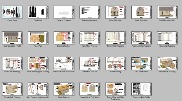 12x22 gambrel shed home plans blueprint pages