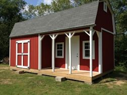 12x24 barn with front porch shed plans