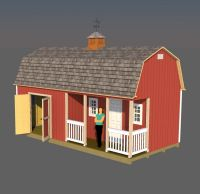 12x24 barn with porch shed plans