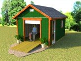 12x16 gable garage storage shed plans