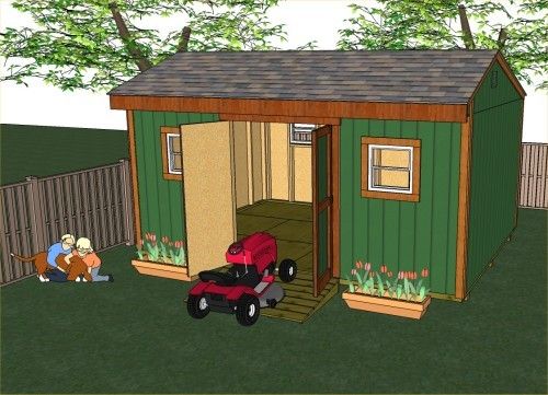 16x12 saltbox storage shed plans